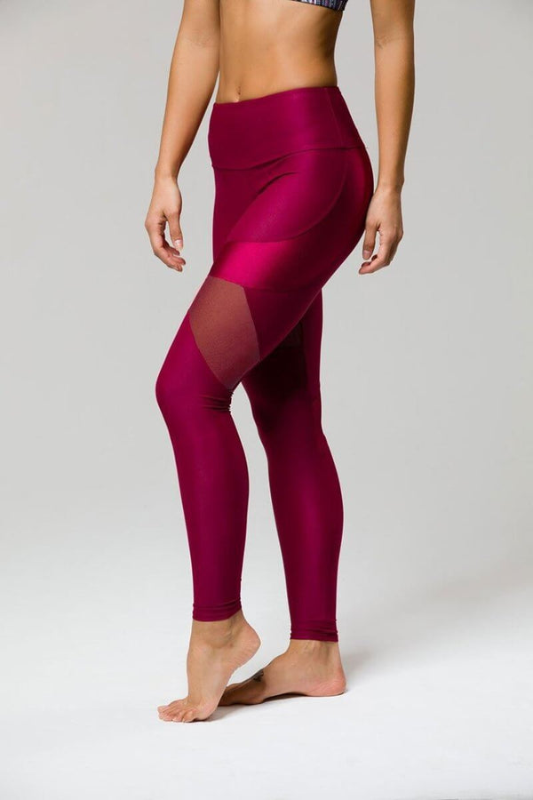 SEA YOGI // Royal Legging by Onzie in Burgundy, left