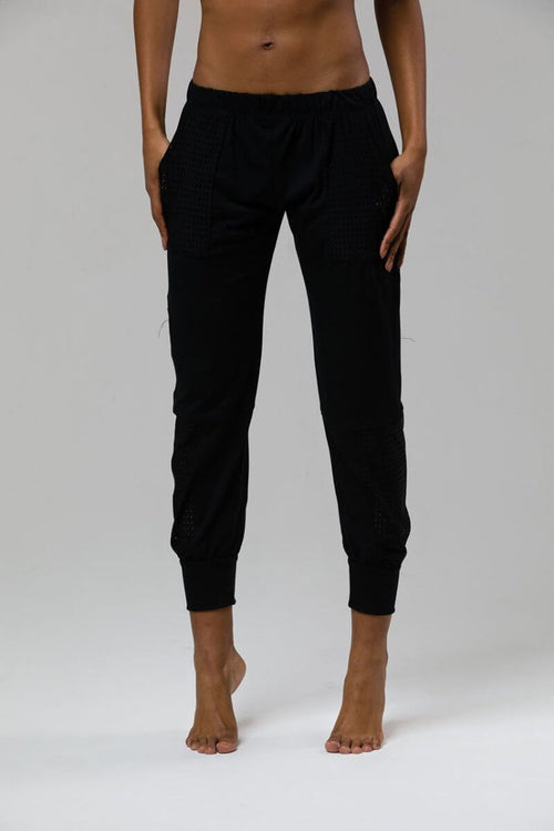 SEA YOGI // Sweatpant by Onzie in Black, front