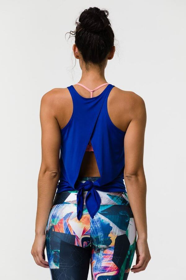 SEA YOGI // Onzie tie back tank royal, back