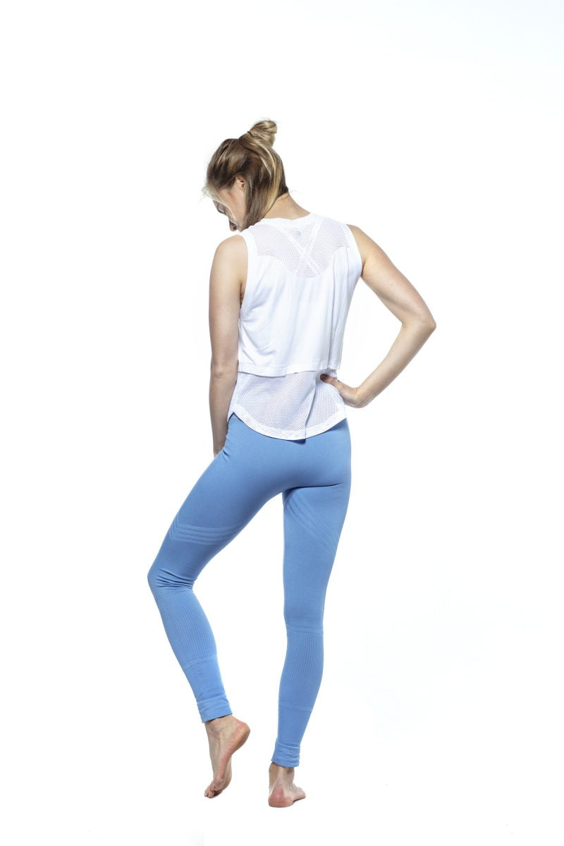 RUN & RELAX // BANDHA LEGGINGS ARROW STRIPE - ICE BLUE
