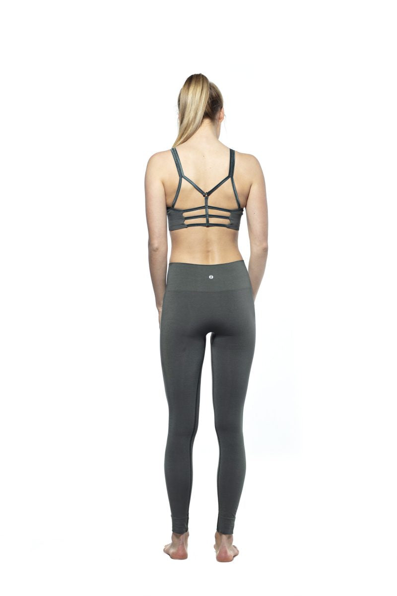 RUN & RELAX // BANDHA BAMBOO LEGGINGS - CAMO GREEN