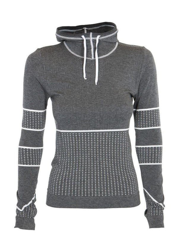 SEA YOGI // Run & Relax Heather Hoddie in Dark Gray, front zoom