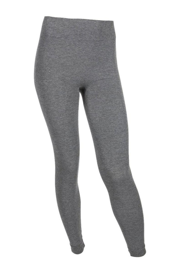 SEA YOGI // Run & Relax Bandha Bamboo Tights in gray, front