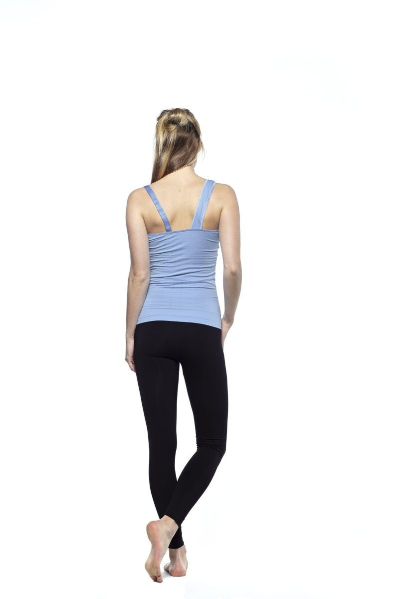 RUN & RELAX // ONE SHOULDER TOP - ICE BLUE