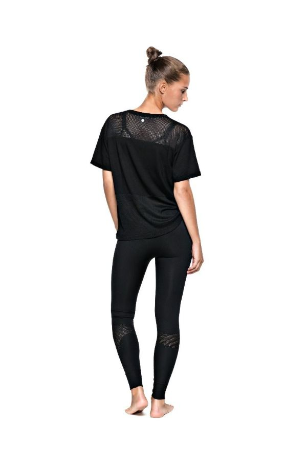 RUN & RELAX // LOOSE MESH TEE - BEAUTIFUL BLACK