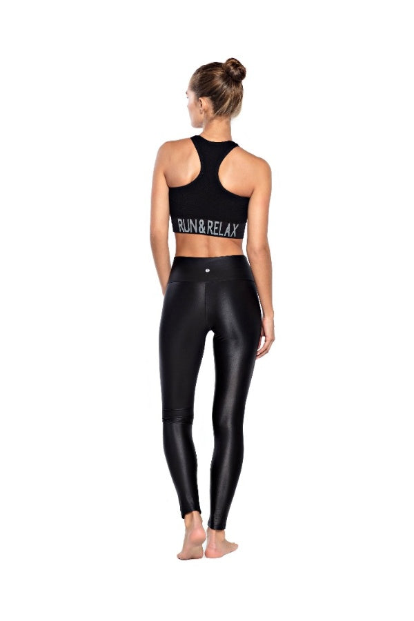 RUN & RELAX // SHINE LEGGINGS - BEAUTIFUL BLACK