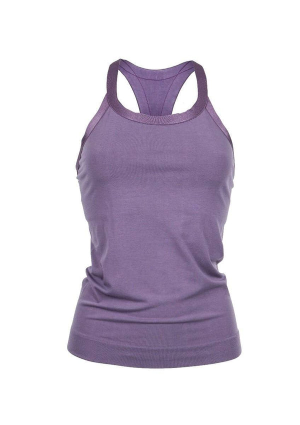 SEA YOGI // Run & Relax Wide Strap Open Back in Light Shadow Purple, front