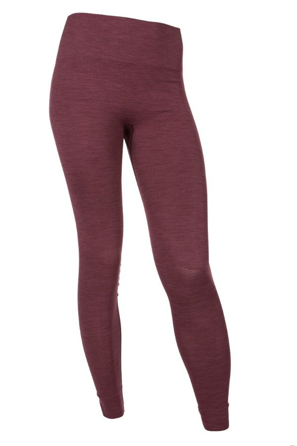 SEA YOGI // Run and Relax, Bandha Bamboo leggings in port wine red, front