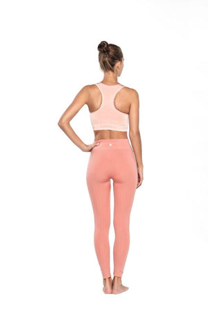 SEA YOGI // Run and Relax, Full cover tights, Dark Earthy rose style in Bamboo material, back