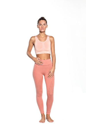 SEA YOGI // Run and Relax, Full cover tights, Dark Earthy rose style in Bamboo material, front