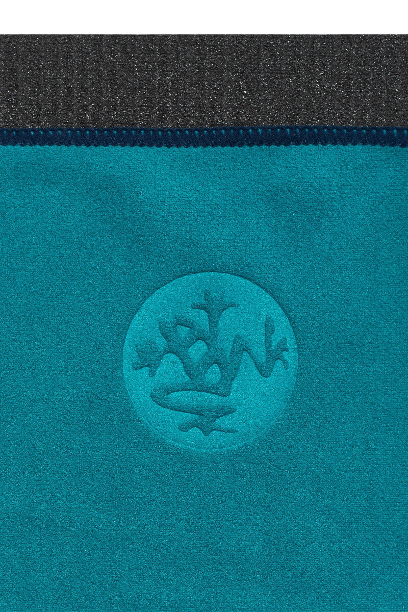 SEA YOGI // eQua Hand Towel in Harbour by Manduka, Sea Yogi web store, close up