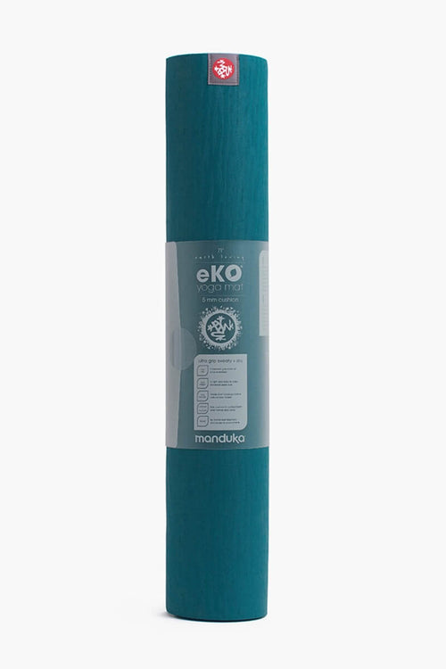 SEA YOGI // Maldive Eko Yoga yoga mat in 5mm by Manduka, standing