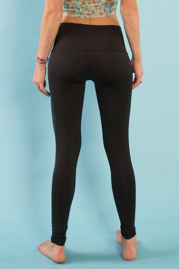 Sea Yogi // Harley Leggings by Teeki for yoga and pilates - Black - back