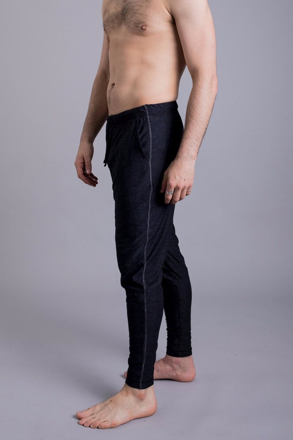 SEA YOGI // Dharma Yoga Pants in Black by OHMME, Online Yoga Shop, left side