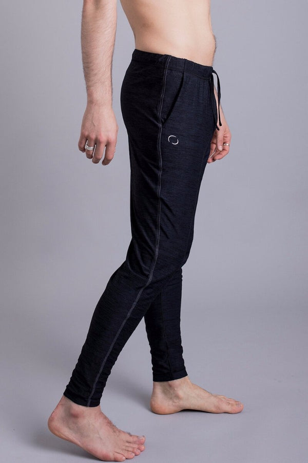 SEA YOGI // Dharma Yoga Pants in Black by OHMME, Online Yoga Shop, right side