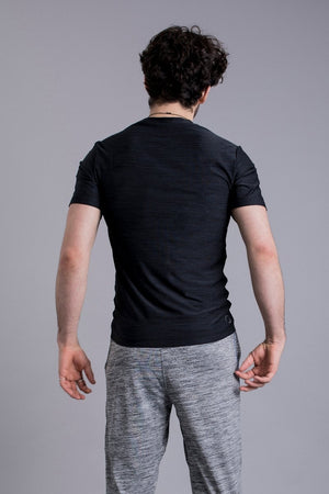 OHMME // COBRA MEN YOGA SHIRT - BLACK