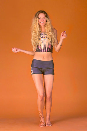 SEA YOGI // Teeki Jungle Eyes Sun Shorts spread out image