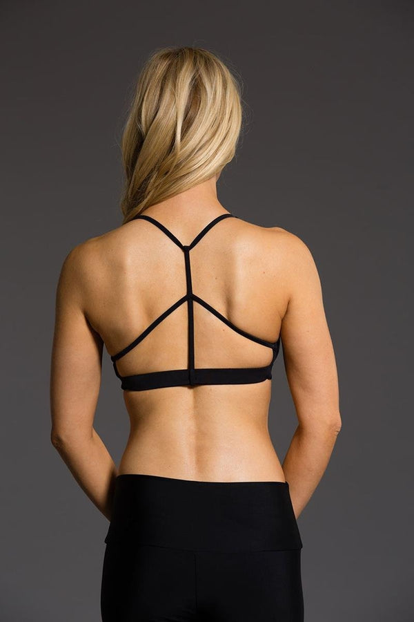SEA YOGI // Black Pyramid Bra by Onzie, Online Yoga Shop, back image