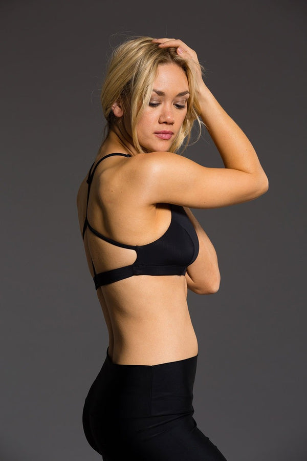 SEA YOGI // Black Pyramid Bra by Onzie, Online Yoga Shop, side image
