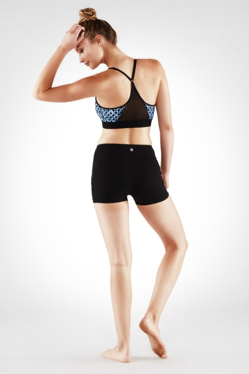 SEA YOGI // Linea Short in Black colour by Manduka, back image