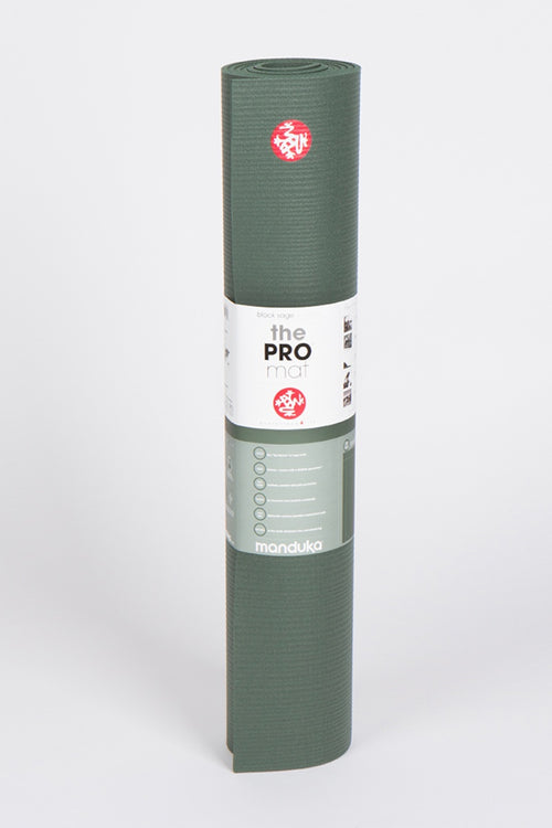 SEA YOGI // Pro Ultimate mat, 6mm thick and in Black Sage style by Manduka, standing image