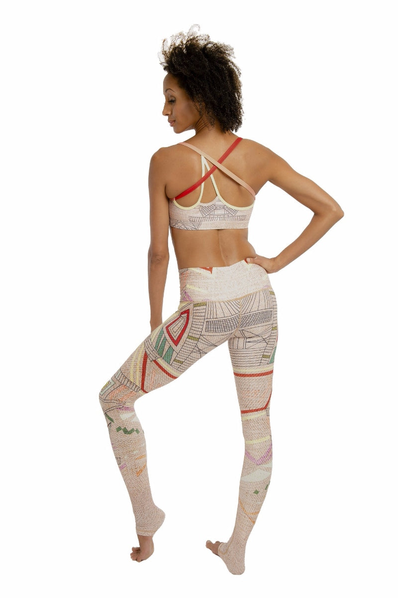 SEA YOGI // Aztec Endless leggings by Niyama Sol, Online Yoga Store, back
