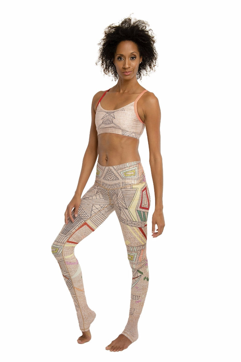 SEA YOGI // Aztec Endless leggings by Niyama Sol, Online Yoga Store, front
