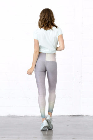 SEA YOGI // Sunrise dip dye barefoot legging by Niyama Sol, Online Yoga Shop, Back