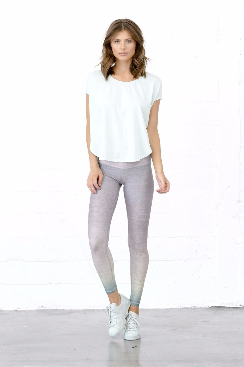 SEA YOGI // Sunrise dip dye barefoot legging by Niyama Sol, Online Yoga Shop, Front