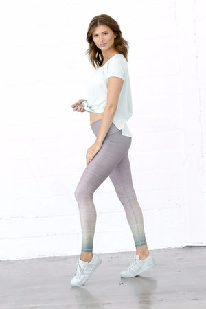 SEA YOGI // Sunrise dip dye barefoot legging by Niyama Sol, Online Yoga Shop, Side