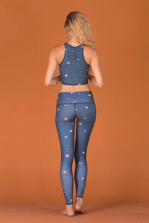 SEA YOGI // Great Star Nation Hot Pant in Navy by Teeki, Tienda de Yoga, back