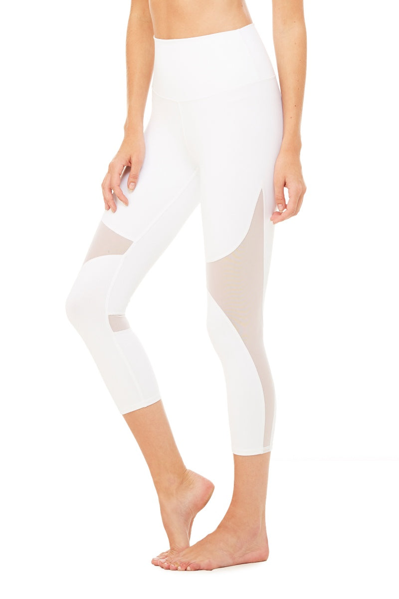ALO YOGA // HIGH WAIST COAST CAPRI - WHITE