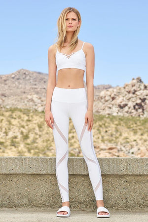 ALO YOGA // INTERLACE BRA - WHITE