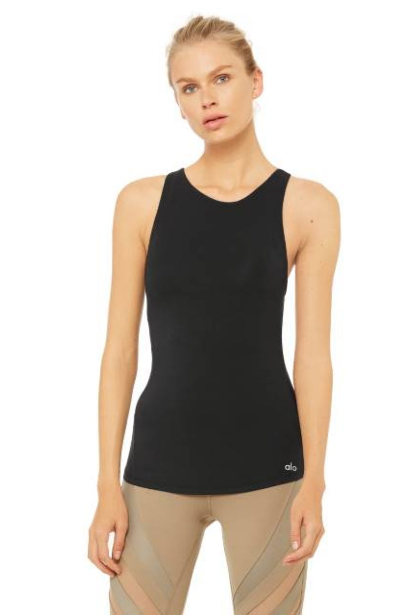 ALO YOGA // JOIN TANK - BLACK