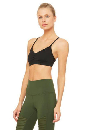 SEA YOGI // Sunny strap bra in Black by Alo, Sea Yogi online yoga shop, side