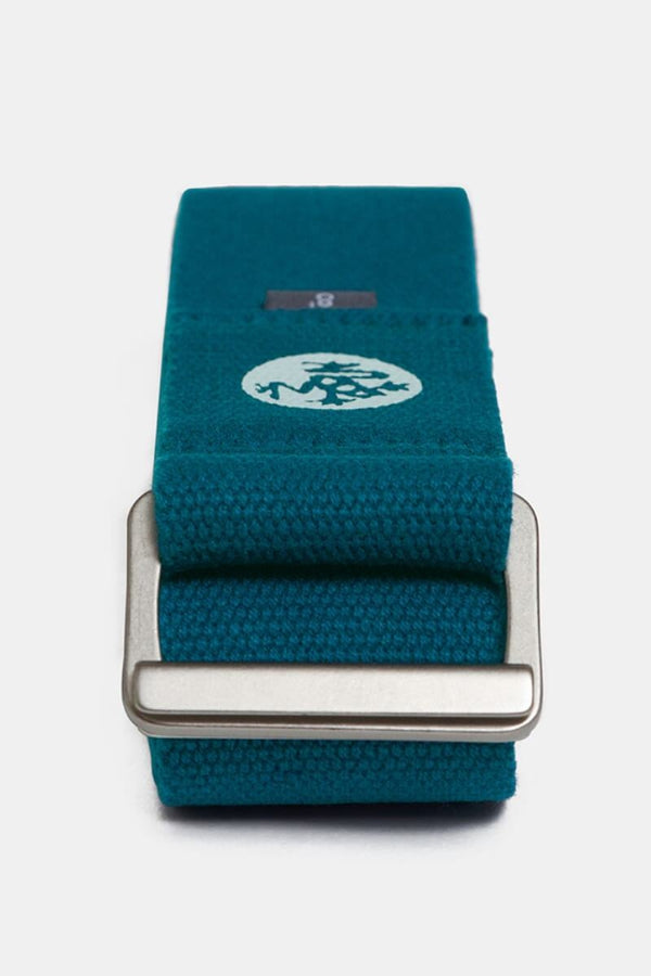 Sea Yogi - Align Yoga Strap Belt from Manduka in Maldive blue - folded