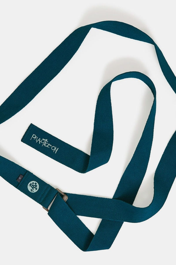 Sea Yogi - Align Yoga Strap Belt from Manduka in Maldive blue - unfurled