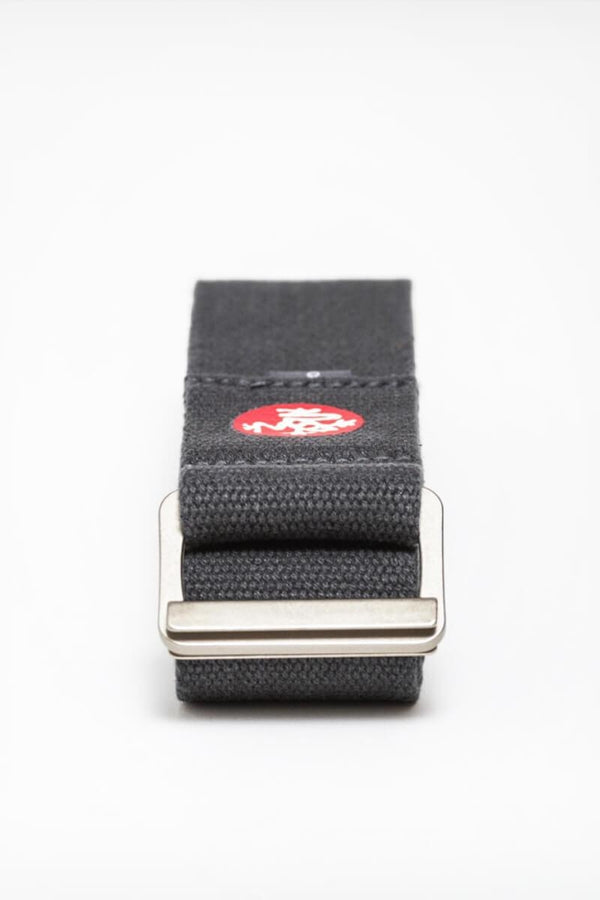 Sea Yogi - Align Yoga Strap Belt from Manduka in Thunder gray - folded