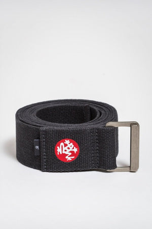 Sea Yogi - Align Yoga Strap Belt from Manduka in Thunder gray - rolled up