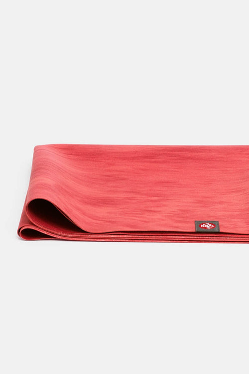 SEA YOGI eKO Superlite yoga travel mat in Kin red print - folded