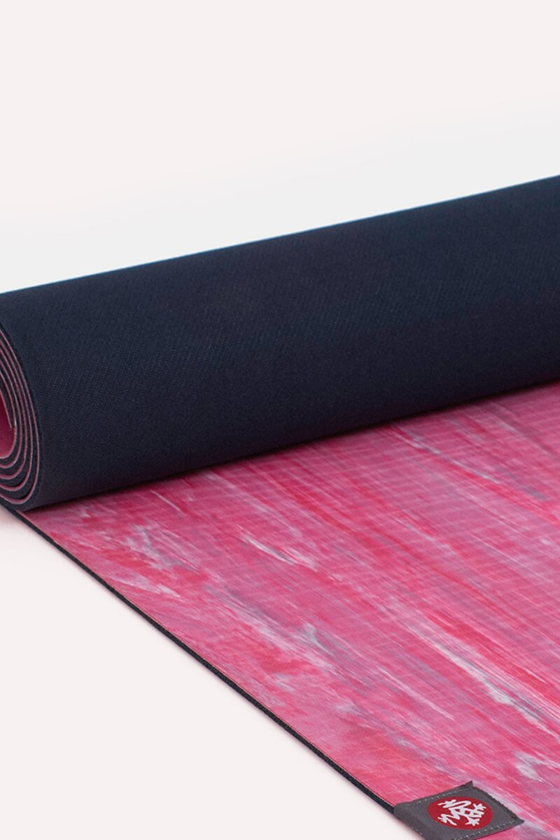SEA YOGI Carval eKO Lite Yoga Mat from Manduka - rolled out - pink and blue - Online Yoga shop from Europe