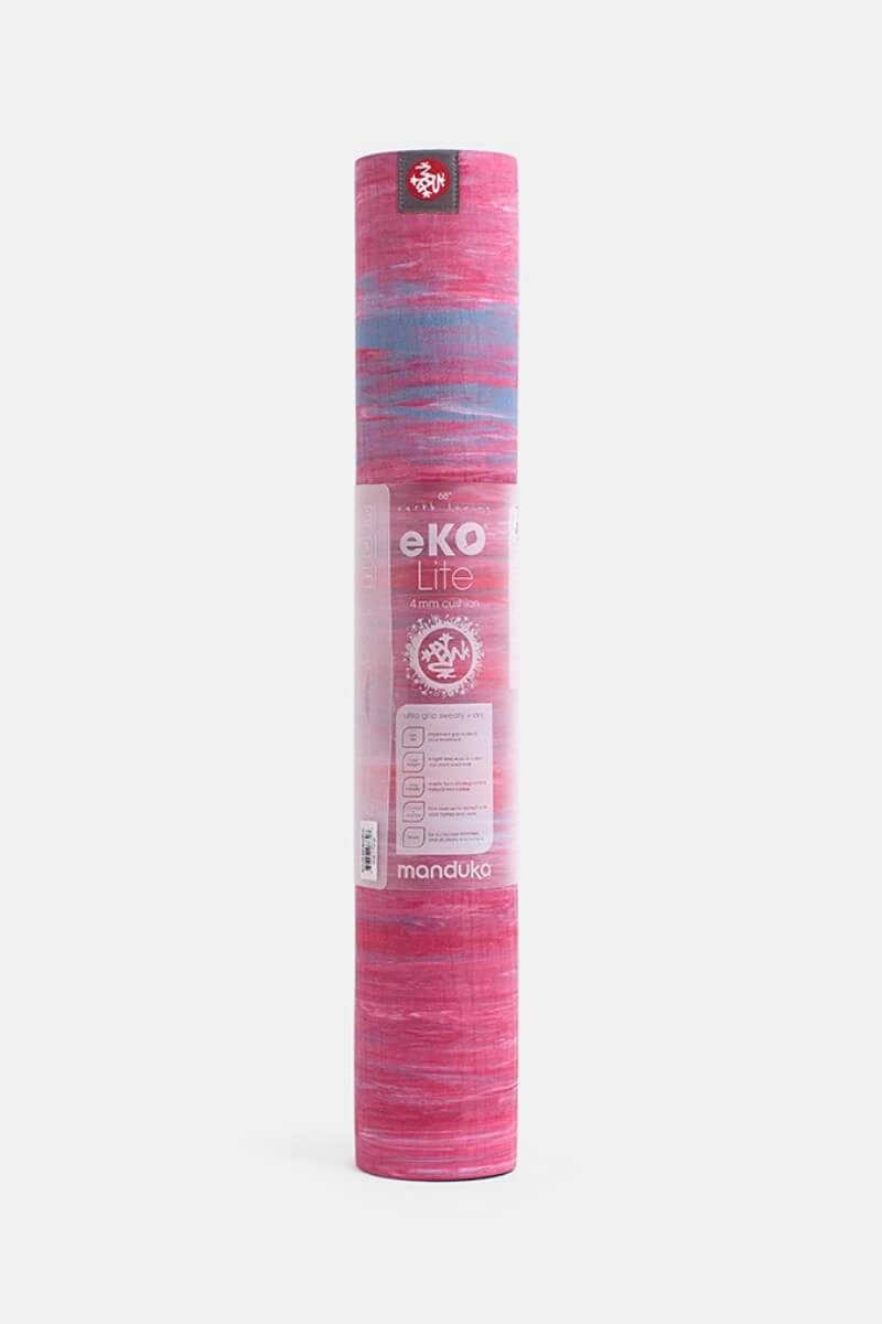 SEA YOGI Carval eKO Lite Yoga Mat from Manduka - rolled up - pink and blue - Online Yoga shop from Europe