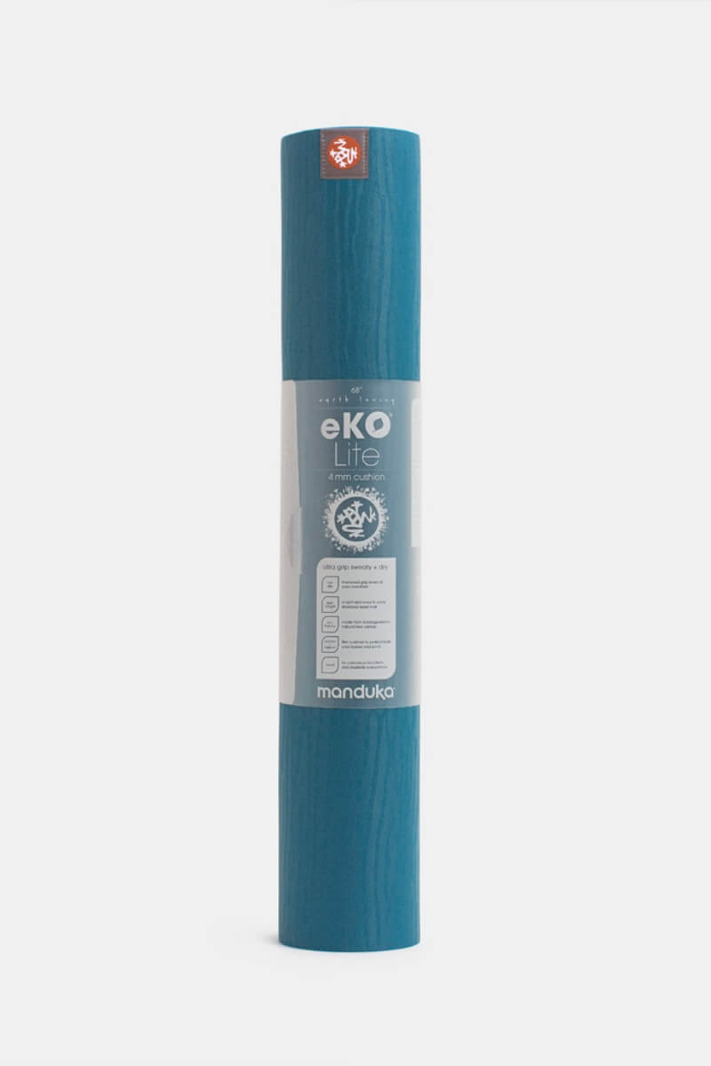 SEA YOGI Maldive eKO Lite Yoga Mat from Manduka - rolled up  - blue and pink - Online Yoga shop from Europe