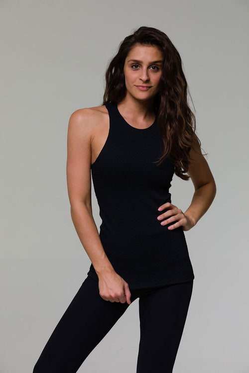 ONZIE // LONG X BACK TOP - BLACK