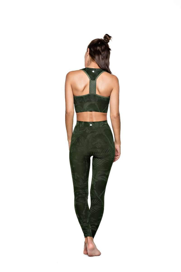 RUN & RELAX // BAMBOO LEAF LEGGINGS - OLIVE GREEN