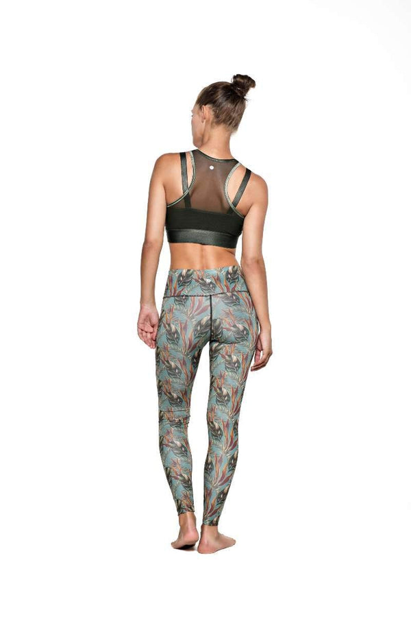 RUN & RELAX // LEAF PATTERN LEGGINGS