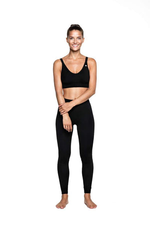RUN & RELAX // LEYLA YOGA BAMBOO BRA - BEAUTIFUL BLACK