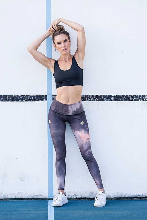 Sea Yogi // Rabbit hole hot pant Black by Teeki, visual front