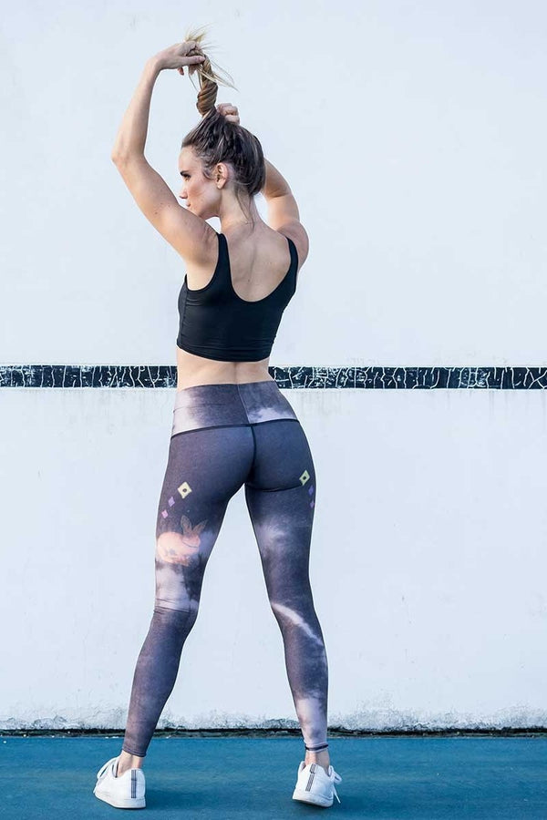 Sea Yogi // Rabbit hole hot pant Black by Teeki, visual back