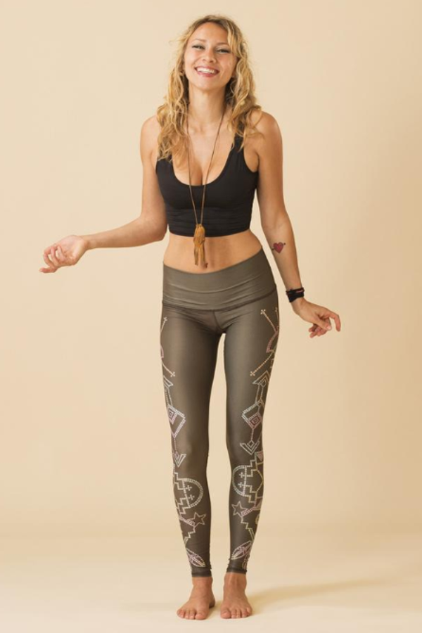 Sea Yogi - Teeki Seven Crowns Leggings for yoga and pilates - Front